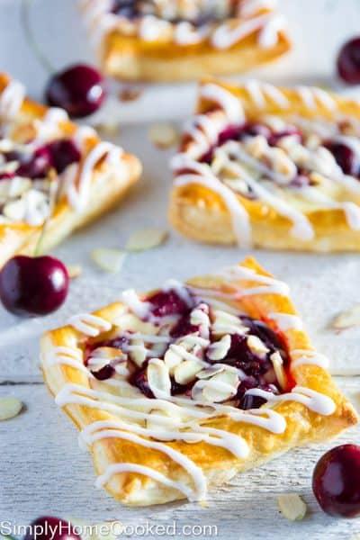 Mini cherry cheese danishes-19
