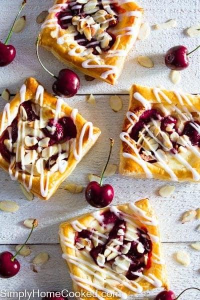 Mini cherry cheese danishes-21
