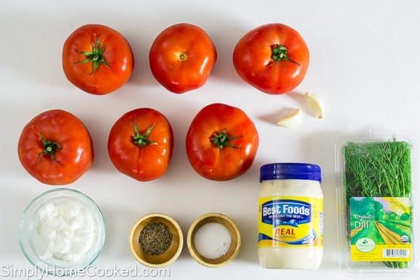 Tomato and garlic salad