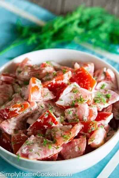 Tomato and garlic salad-7
