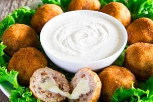 Chicken Croquettes Stuffed with Mozzarella