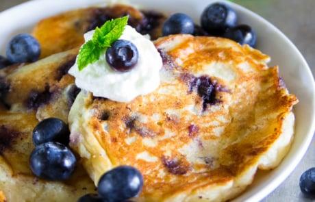 Blueberry ricotta cheese pancakes-11