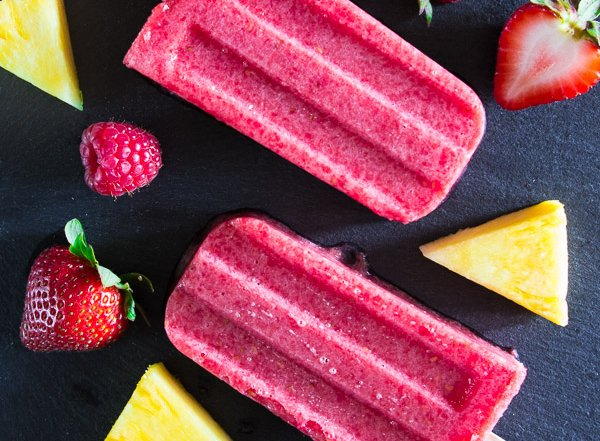 Strawberry Pineapple Popsicles-9