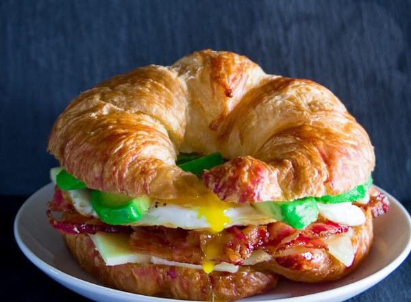 Croissant Breakfast Sandwich-16