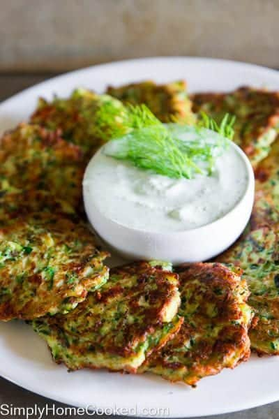 Greek Zuchini Fritters-9