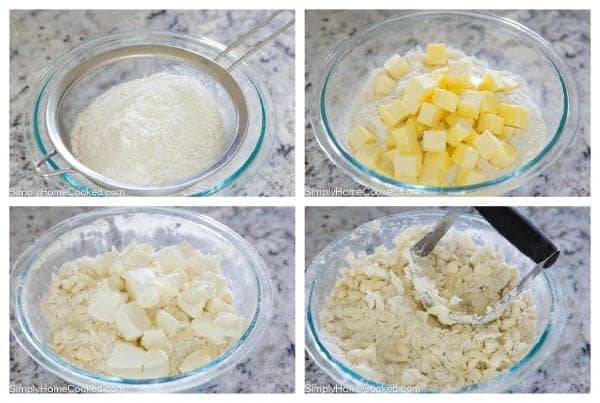 cutting butter into flour