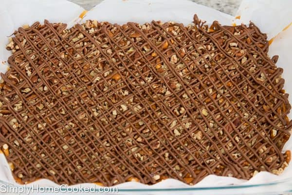 Chocolate Caramel Pretzel Bars - Simply Home Cooked