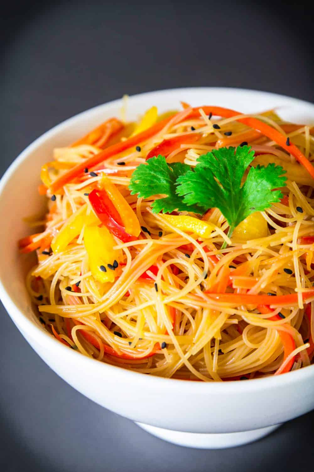Simple Rice Noodle Salad Recipe - Simply Home Cooked