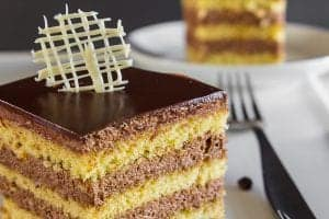 Layered Almond Coffee Cake