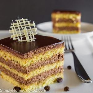 Layered Almond Coffee Cake