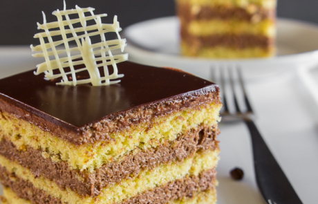 Layered almond coffee cake-37