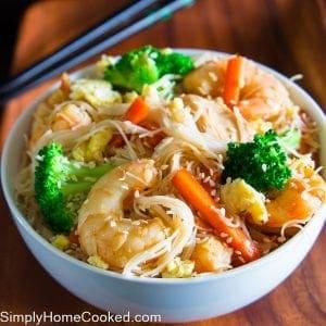 Rice Noodle Stir Fry (gluten free)