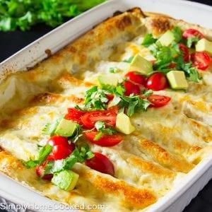 White Sauce Enchiladas
