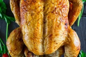 Vertically Roasted Chicken