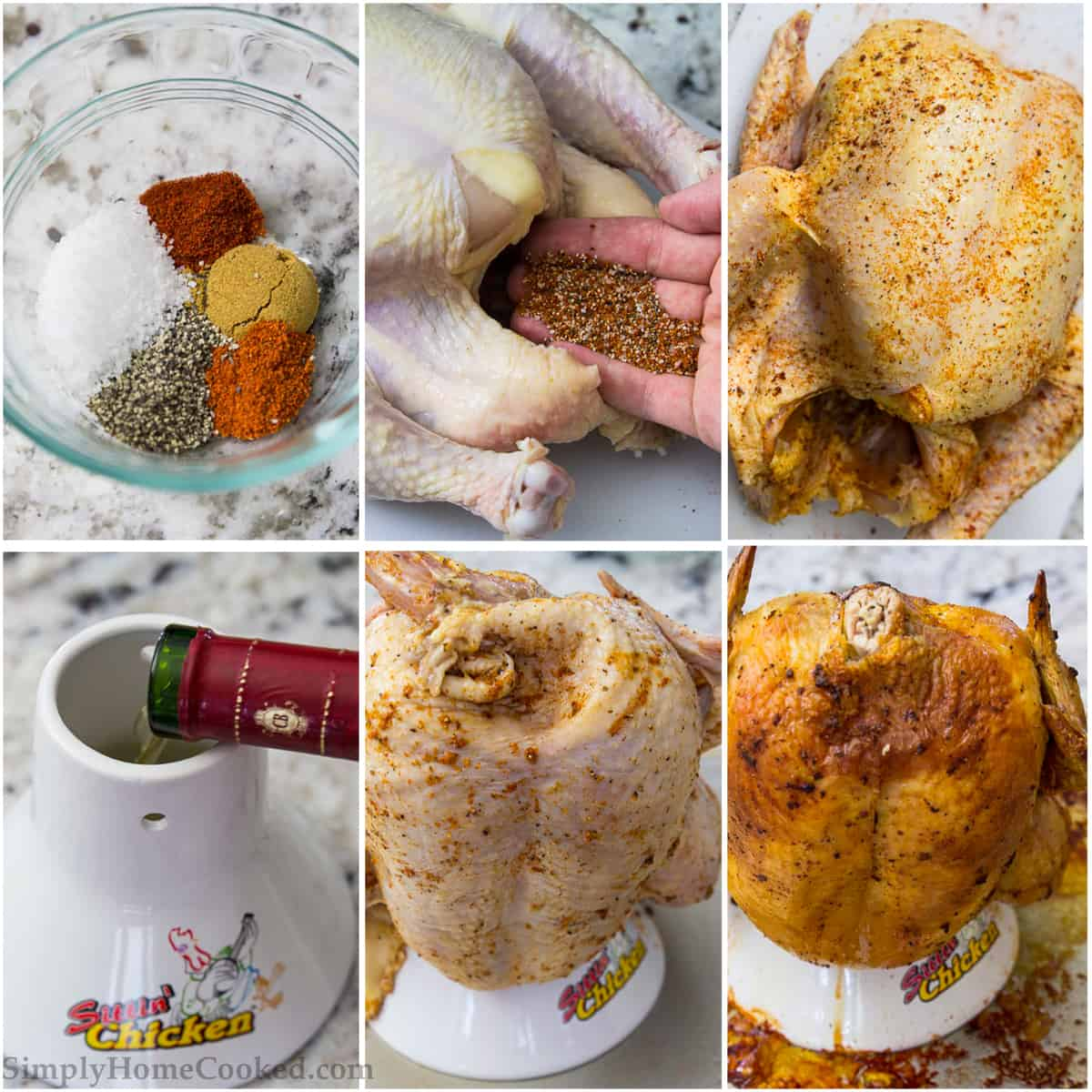 steps to make vertical roasted chicken