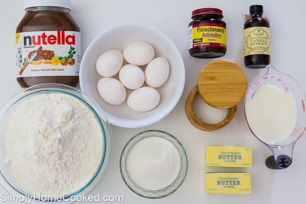 nutella brioche ingredients