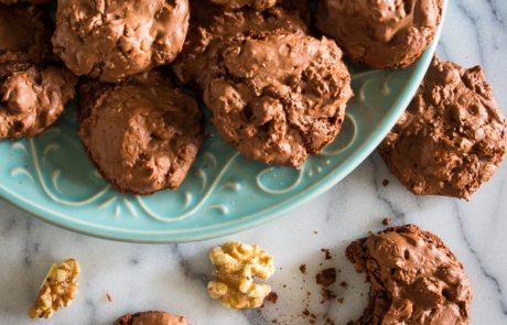 Chocolate meringue cookies_-16