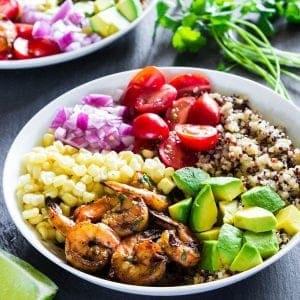Quinoa Shrimp Bowls