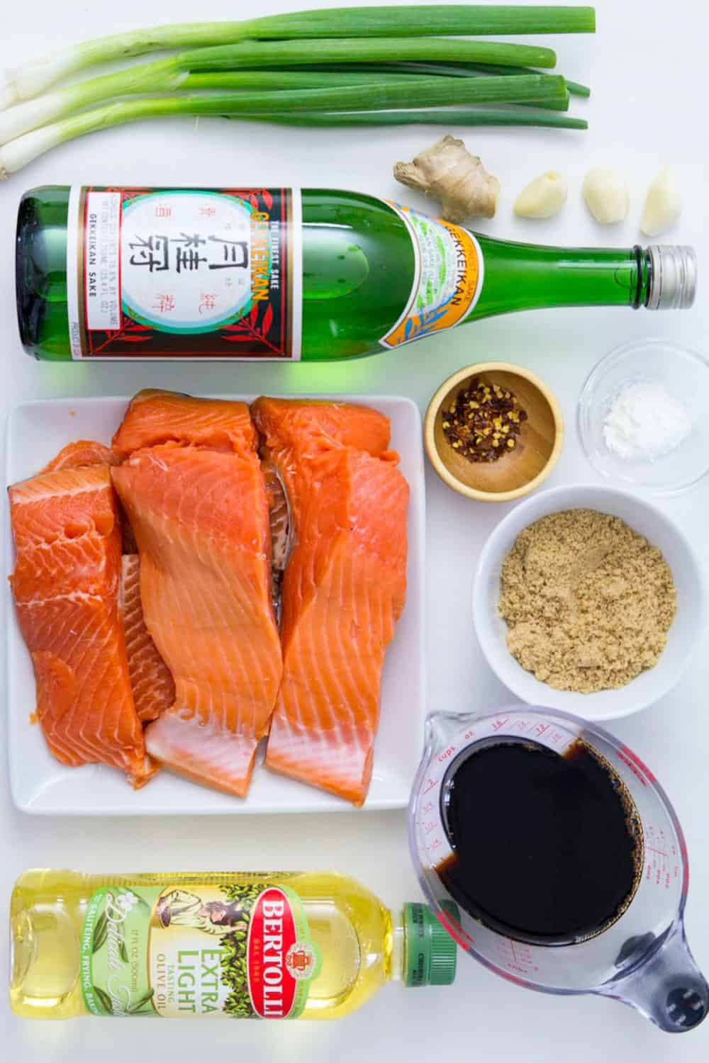 ingredients for teriyaki salmon