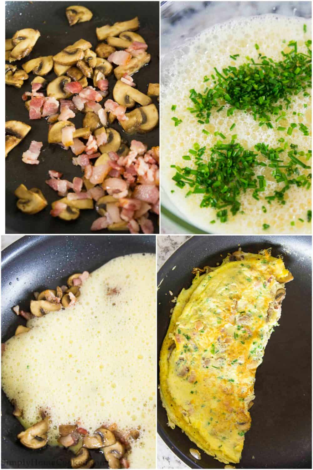Bacon Mushroom Omelette Recipe Simply Home Cooked