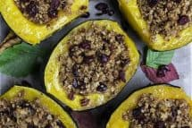 Acorn Squash with Oatmeal and Cranberries