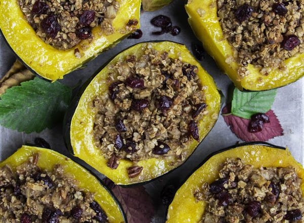 Acorn squash with oatmeal and cranberries (18 of 18)