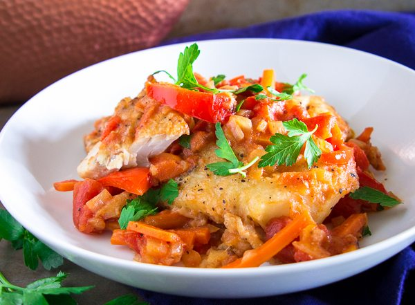 Cod with sauteed vegetables-16
