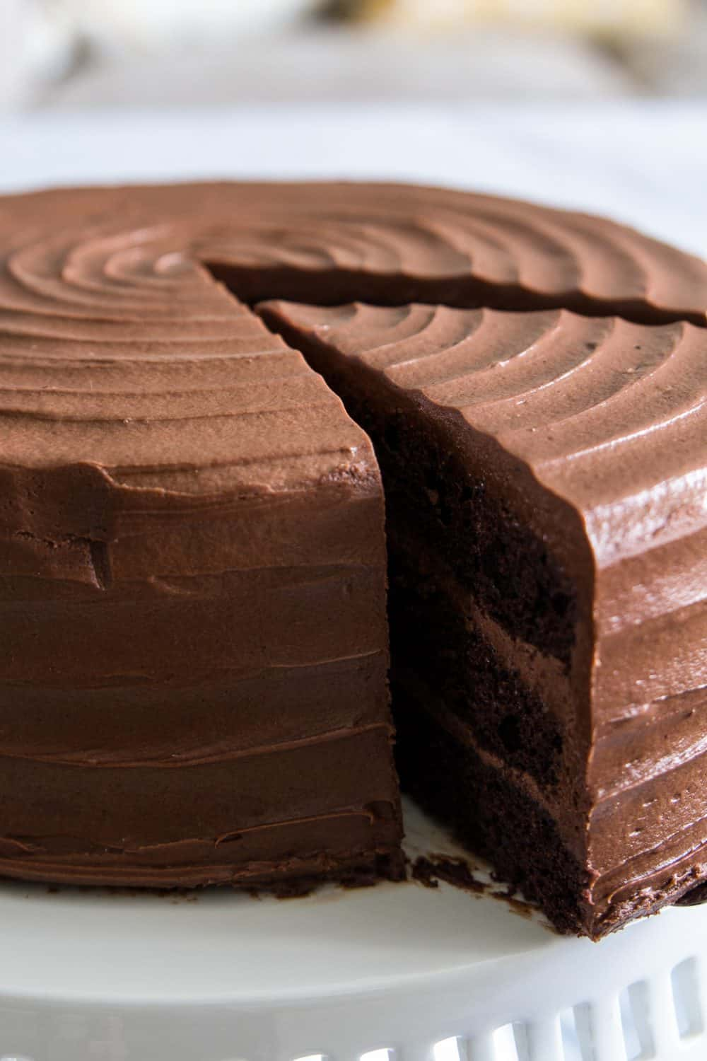 sliced nutella cake