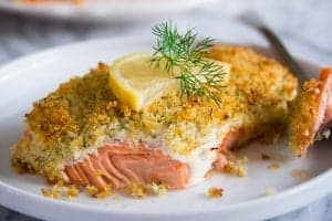 Panko Crusted Salmon
