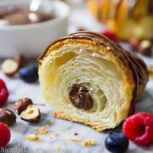 Croissant with Nutella filling