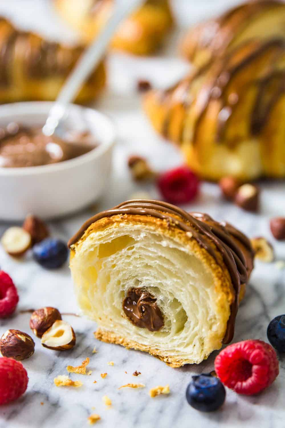 Homemade Nutella Croissants Recipe Simply Home Cooked