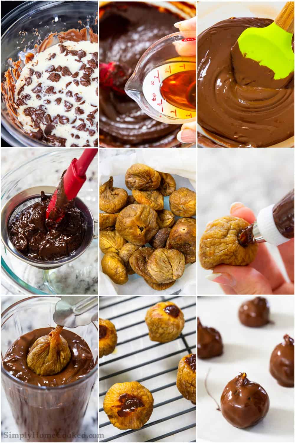 How to make fig bonbons step by step pictures
