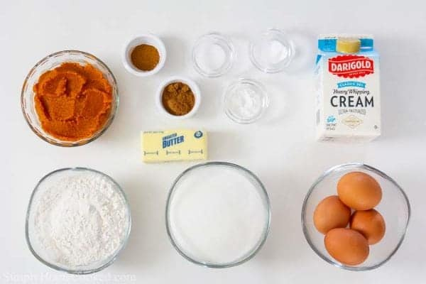 ingredients for cupcakes
