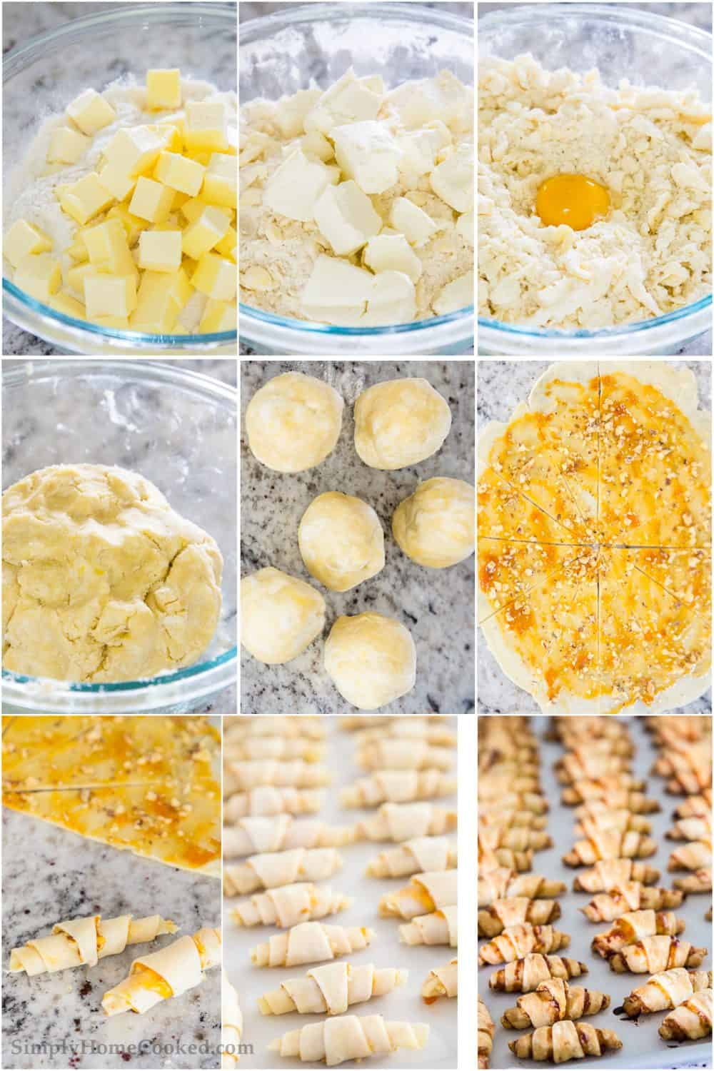 steps to make apricot walnut rugealch cookies