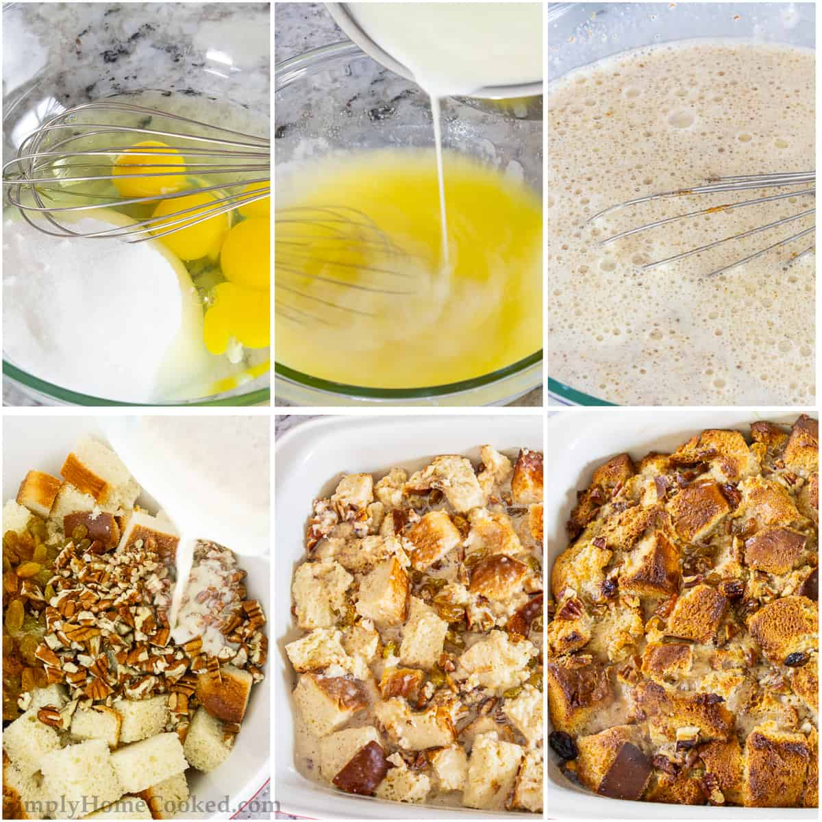 steps to make bread pudding with vanilla rum sauce