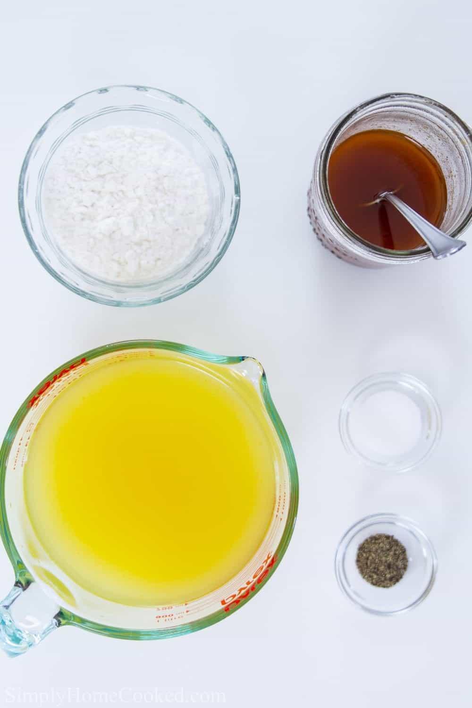 ingredients for turkey gravy