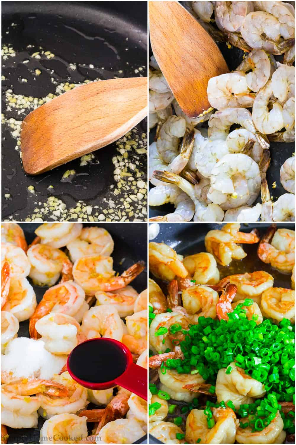 steps to make garlic ginger shrimp