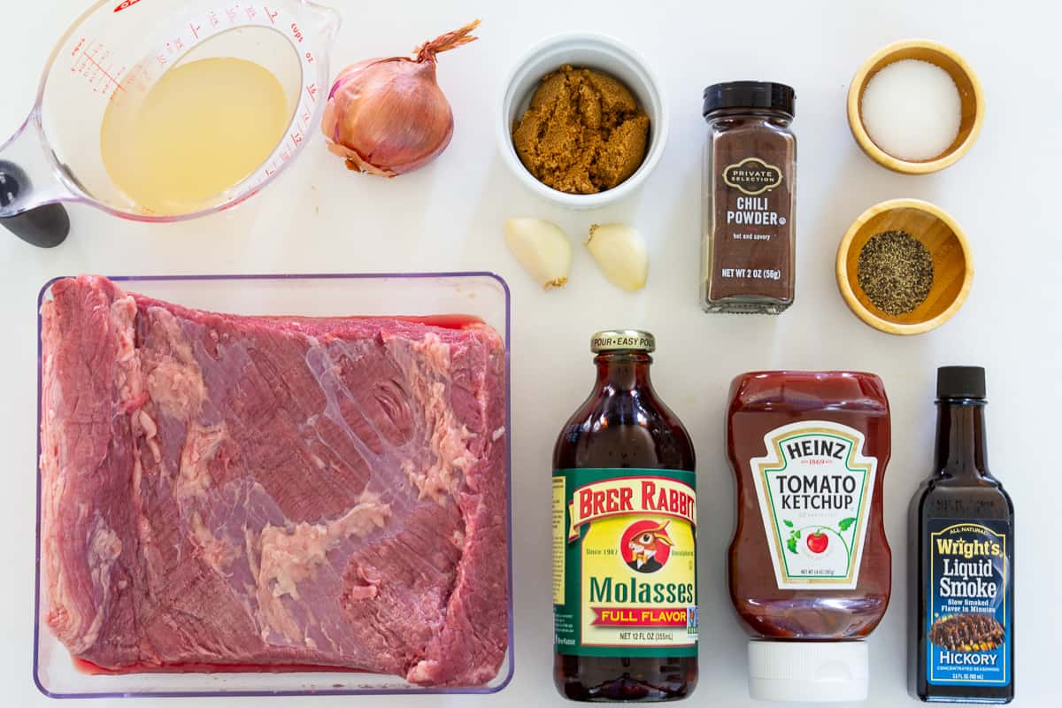 Rich molasses adds just the sweetness you need in this easy slow cooker beef brisket sandwich recipe.