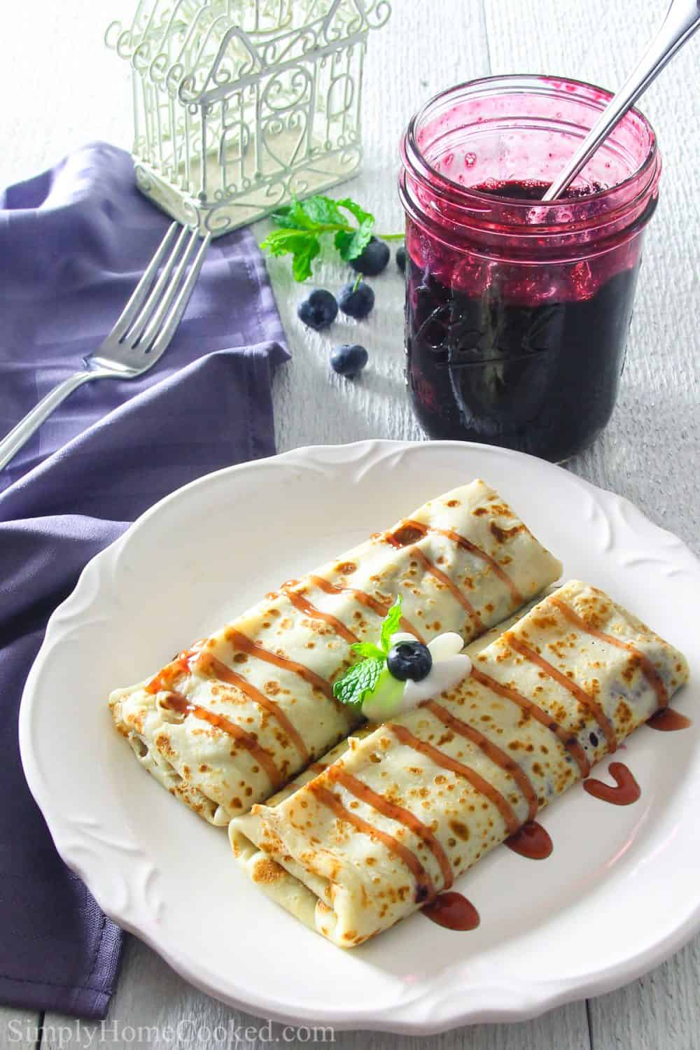 Blueberry Breakfast Crepe Recipe Simply Home Cooked