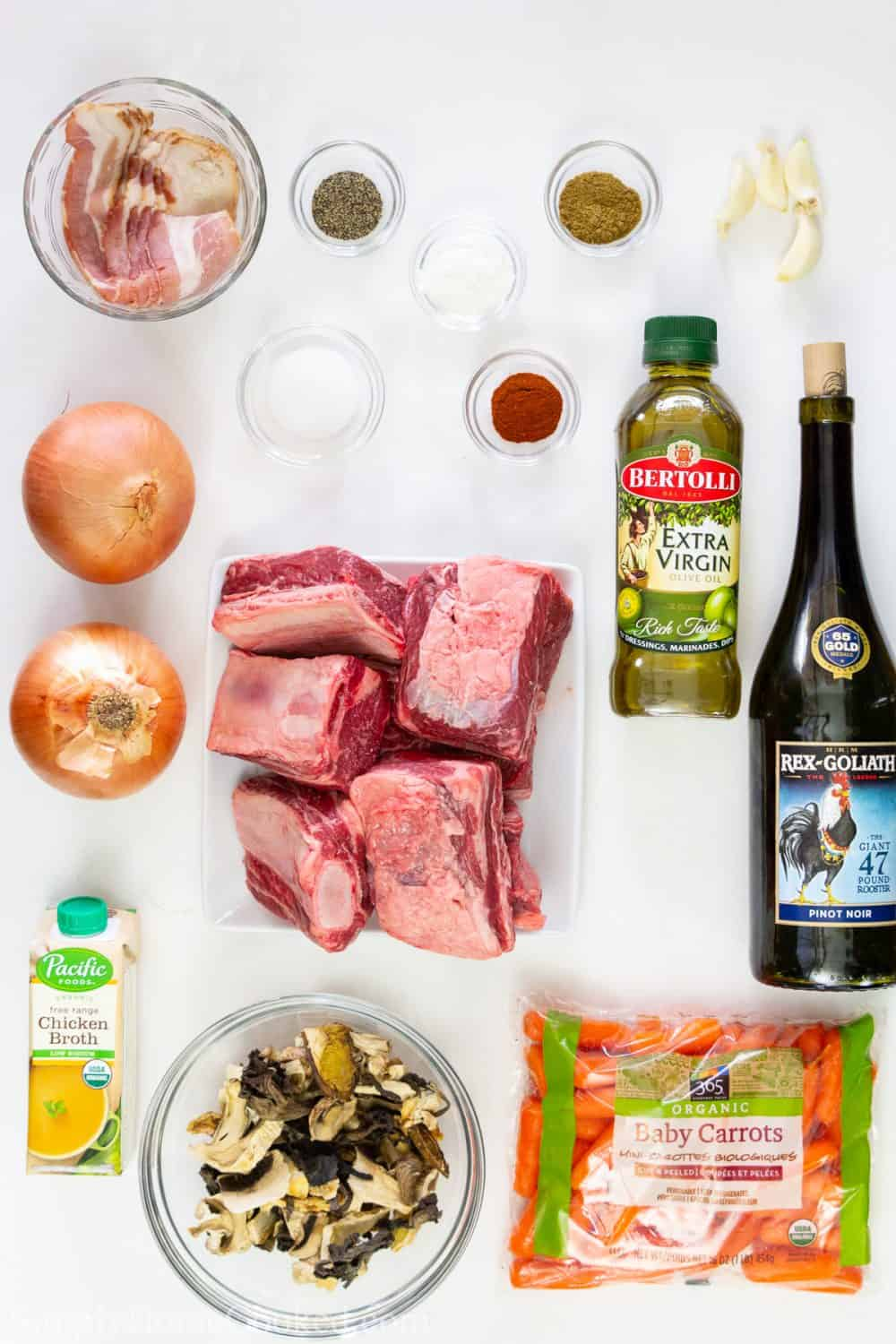 ingredients for braised beef