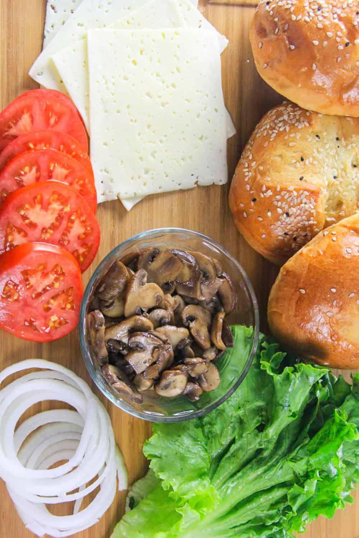 Beef Burger ingredients