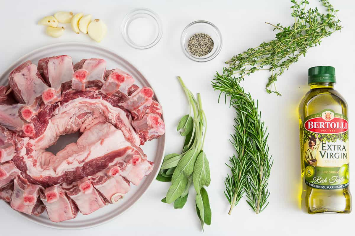 Fresh herbs are a must for this delicious Garlic Herb Crown Pork Roast recipe to turn out delicious, flavorful, and beautiful to serve.