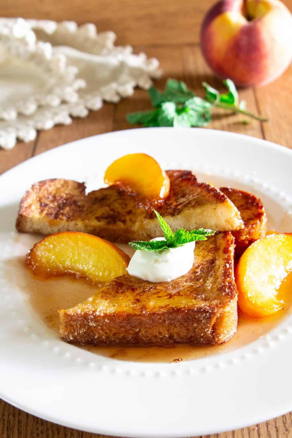 Best French Toast Recipe With Caramelized Peaches Simply Home Cooked