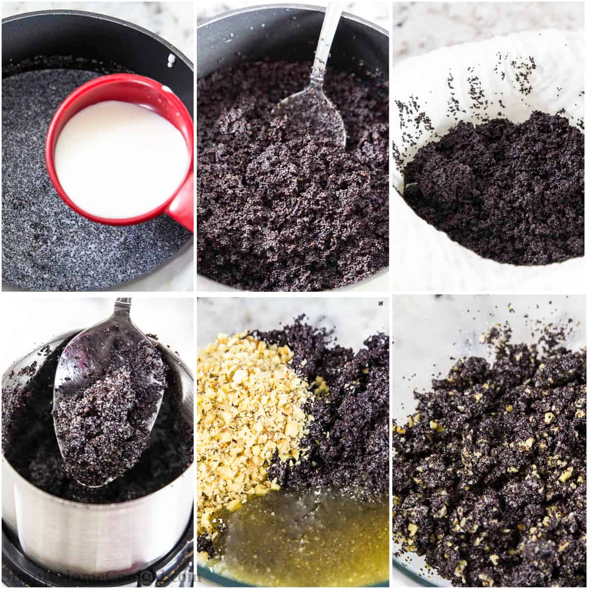 steps to make poppy seed filling
