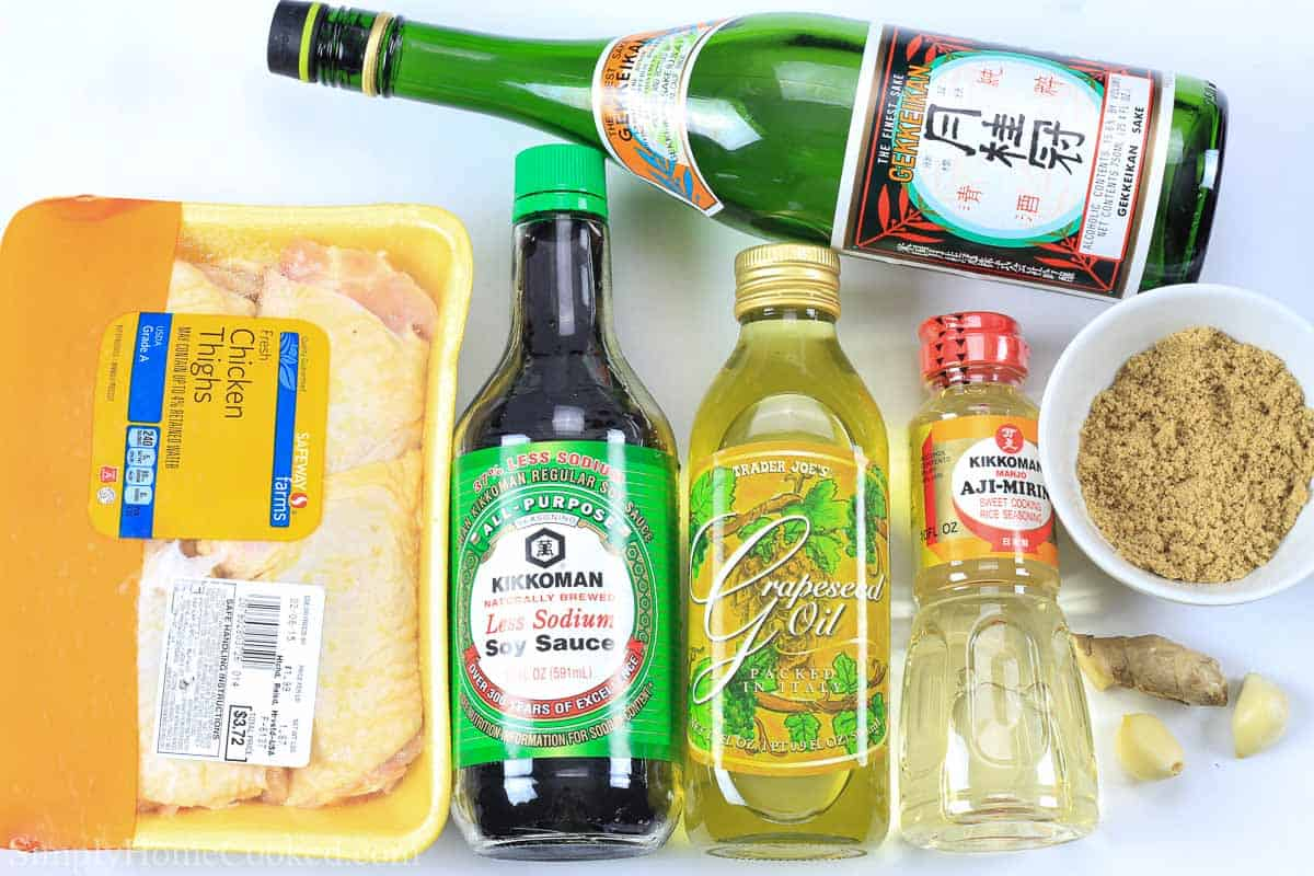 Ingredients for Grilled Teriyaki Chicken