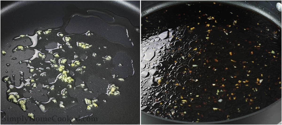 Teriyaki sauce for Grilled Teriyaki Chicken in skillet
