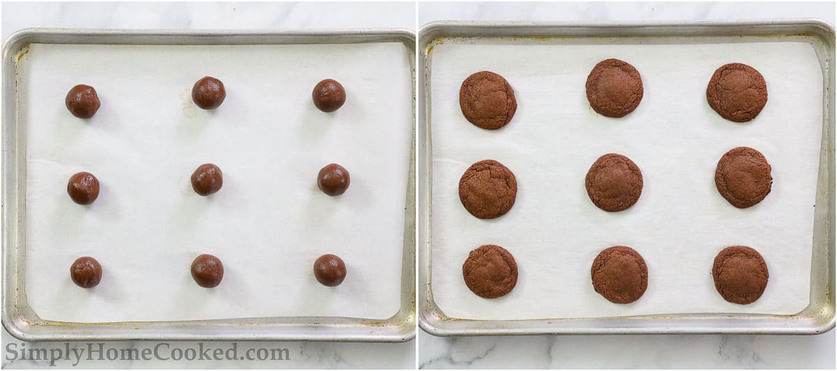 steps to make Nutella cookies