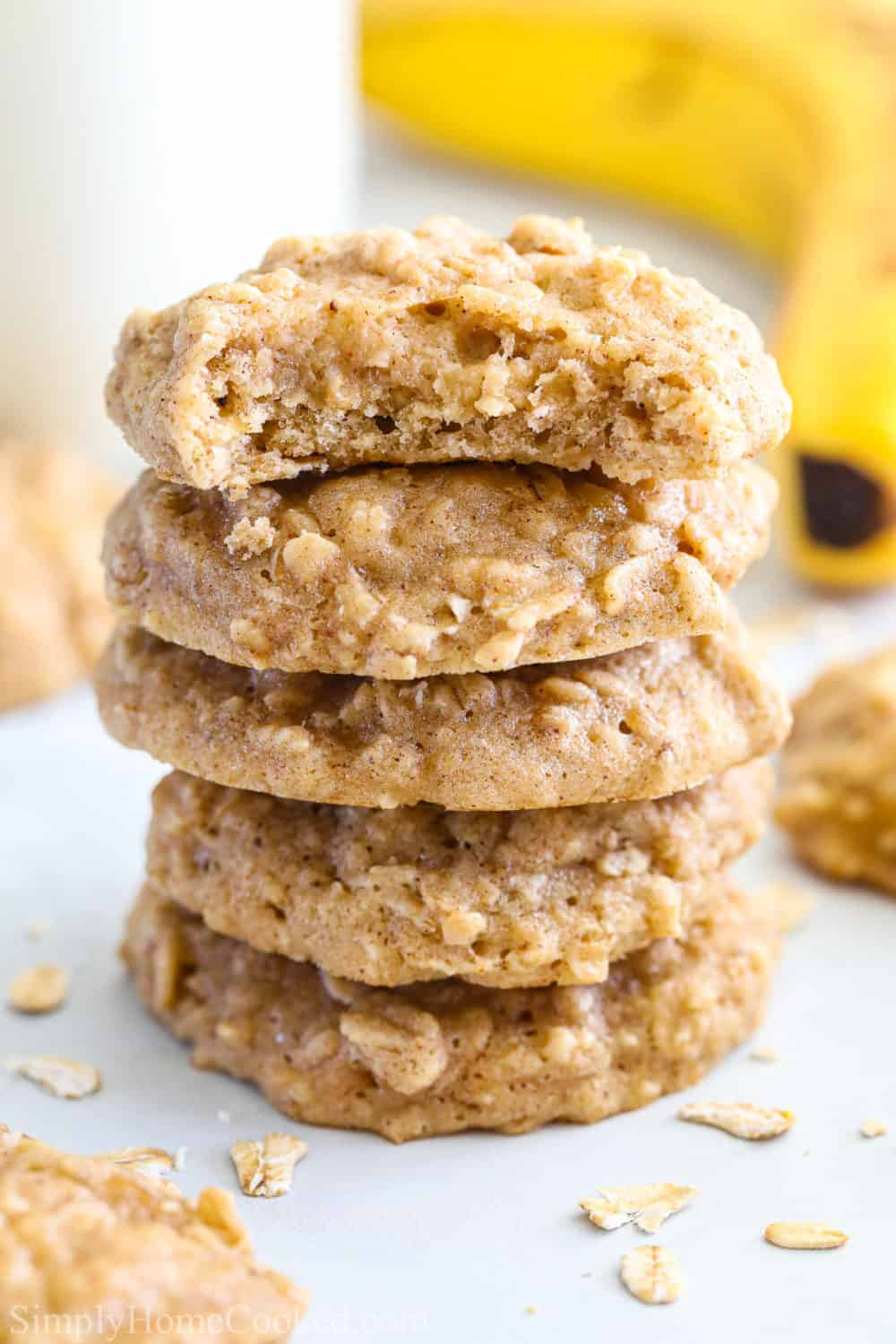 Chewy Banana Oatmeal Cookies Simply Home Cooked