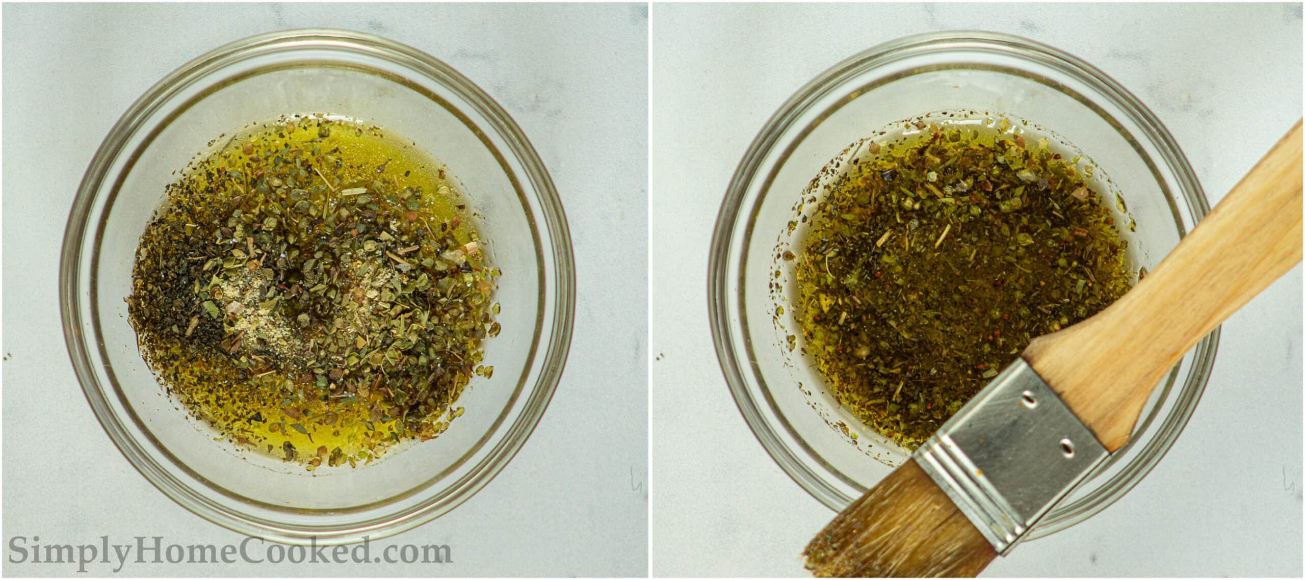 close up image of butter and herb mixture for pizza hut breadsticks