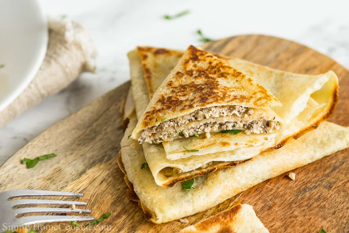 Savory Crepes With Chicken And Mushroom Filling Simply Home Cooked